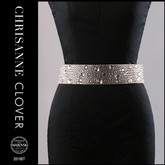 A magnificent crystalized belt embellished with CRYSTALS FROM SWAROVSKI